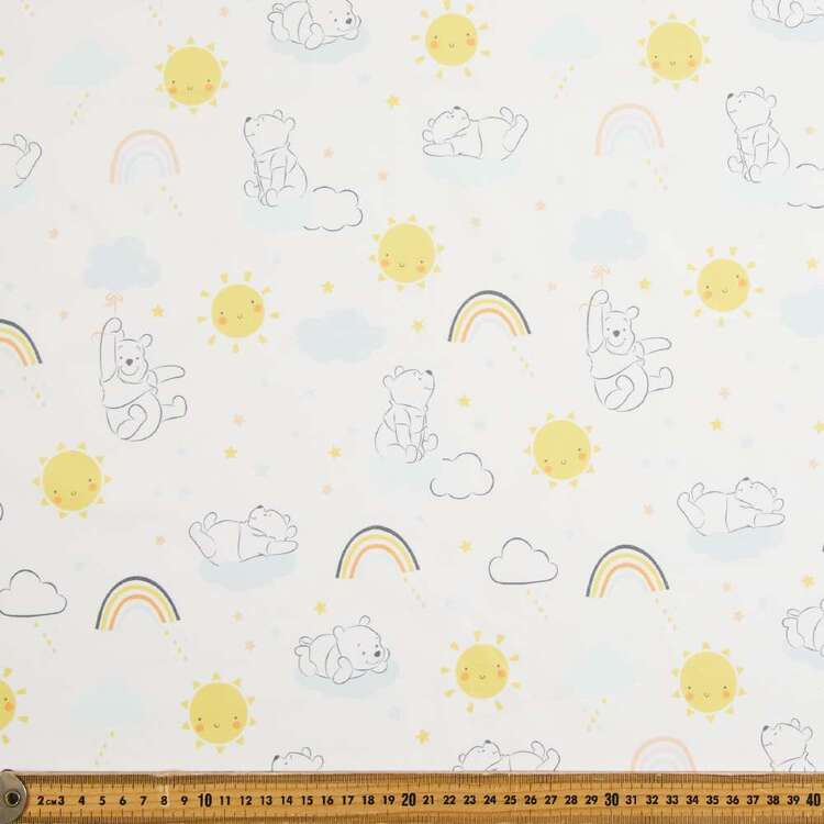 Winnie The Pooh Rainbows Printed Cotton Sheeting