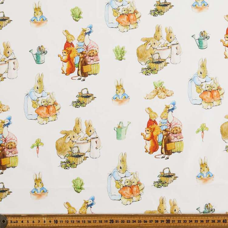 Peter Rabbit Garden Friends Printed Cotton Sheeting