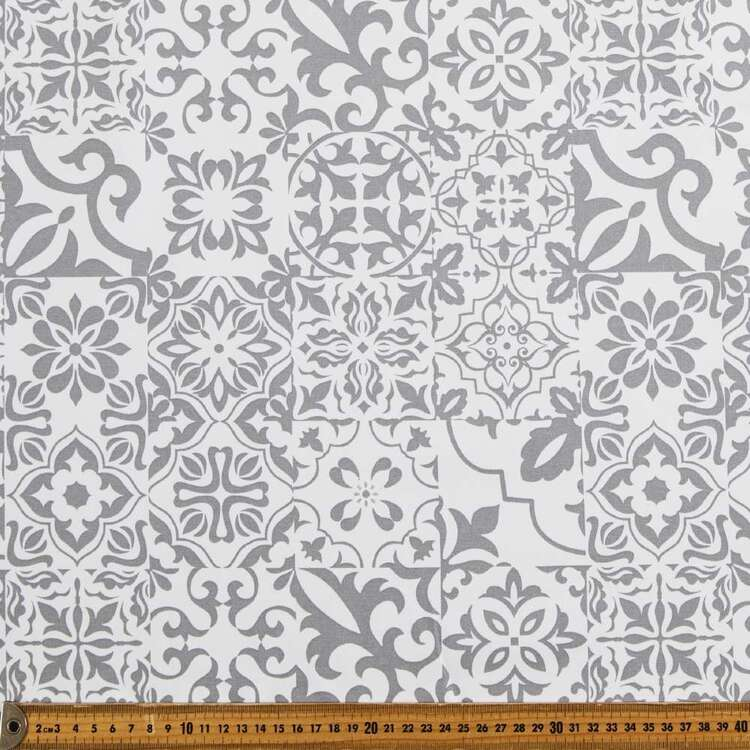 Venice Tile Thermal Curtain Fabric