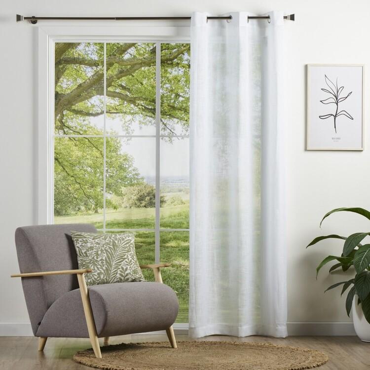 Brampton House Rhodes Sheer Eyelet Curtain