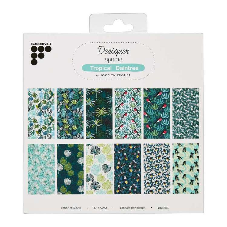 Francheville Jocelyn Proust Tropical Daintree 6 x 6 in Paper Pad