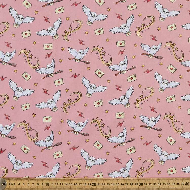 Harry Potter Whimsical Hedwig Cotton Fabric
