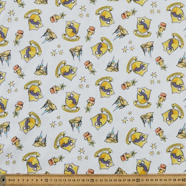Harry Potter Whimsical Hufflepuff Cotton Fabric