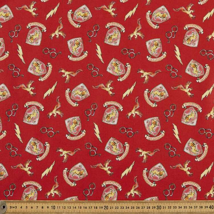 Harry Potter Whimsical Gryffindor Cotton Fabric