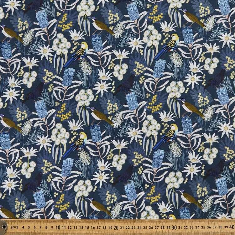 Jocelyn Proust Digital Moonlight Flora Bird Cotton Fabric
