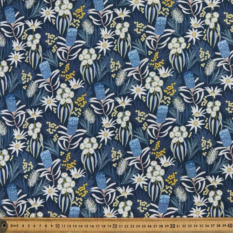 Jocelyn Proust Digital Moonlight Flora Cotton Fabric