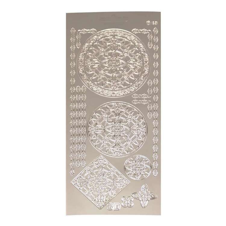 Couture Creations Art Deco 3D Ornament Round Lace Sticker Sheet