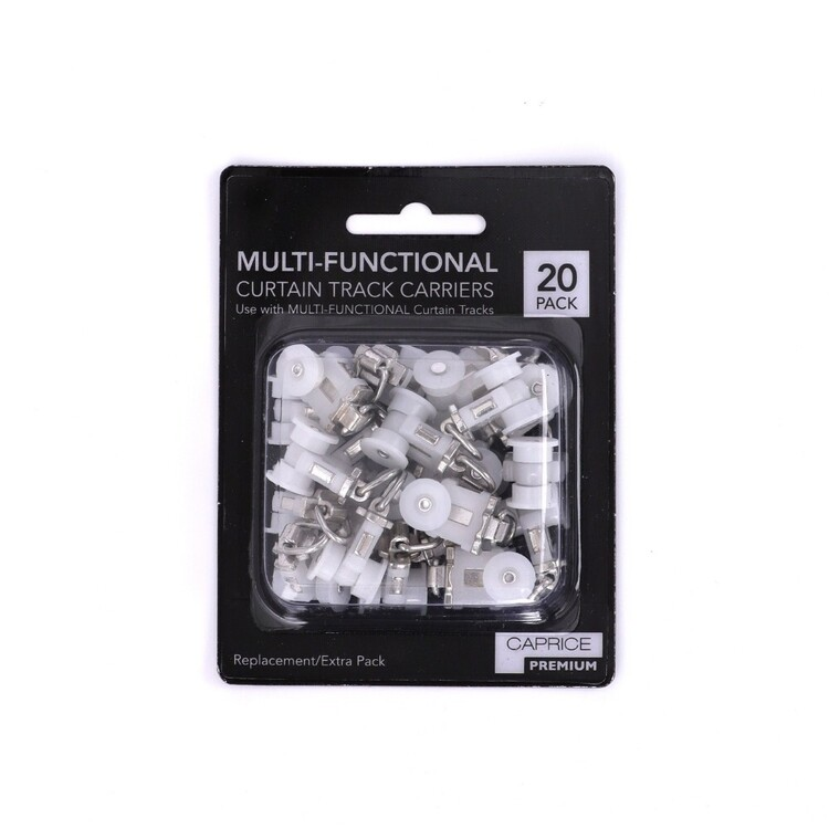 Caprice 20 Pack Multi-Functional Curtain Track Carriers