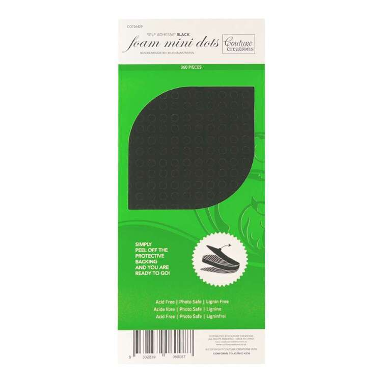 Couture Creations Black 3D Foam Mini Dots 360 Pack
