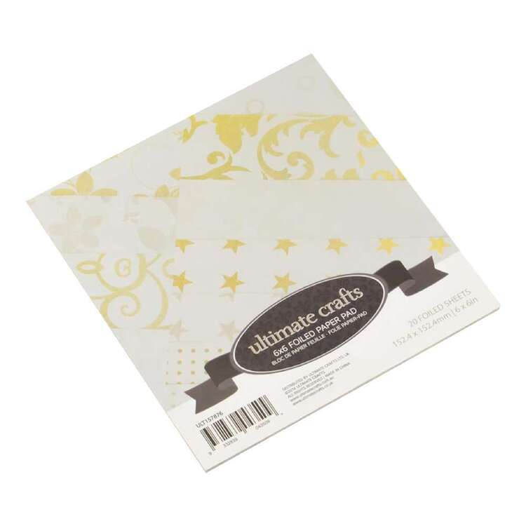 Couture Creations 6 x 6 in Foiled Paper Pad