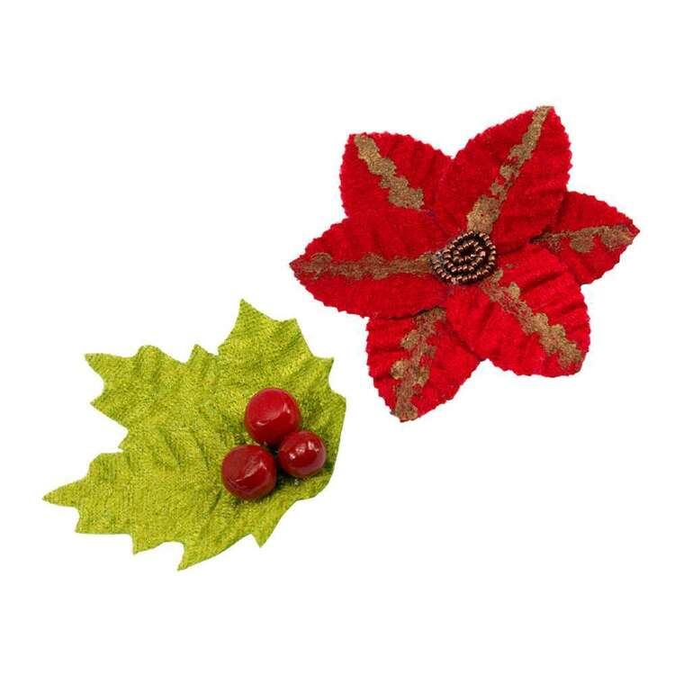 Couture Creations Poinsettia 2 Pack Flower Set