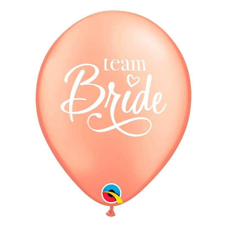 """Qualatex 11"""" Team Bride Rose Gold Latex Balloon"""