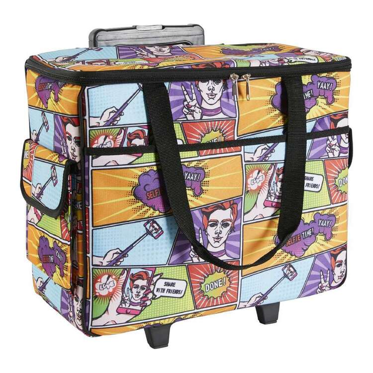 Semco Comic Printed Trolley Bag