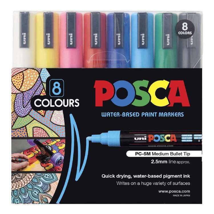POSCA PC-5M 8 Pack Poster Markers