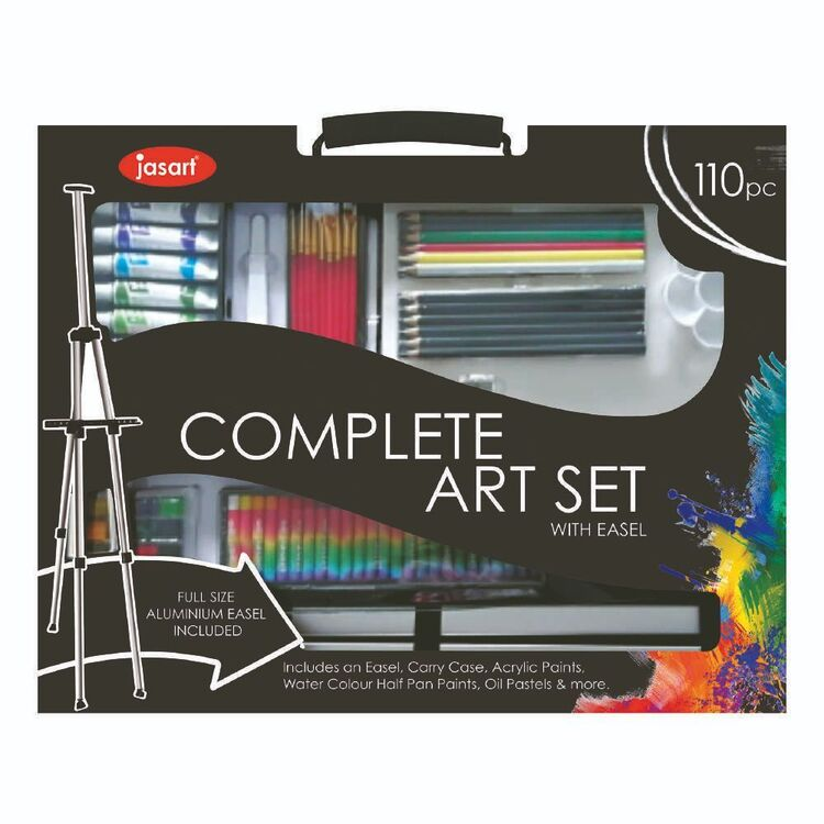 Jasart 110 pc Complete Art Set With Easel