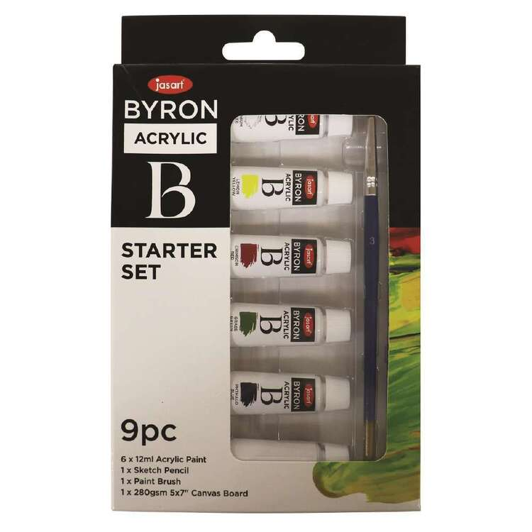 Jasart Byron 9 Pack Watercolour Starter Set