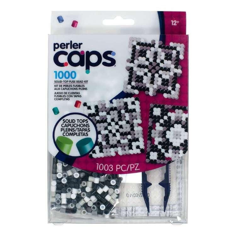 Perler Black & White Cap Starter Kit