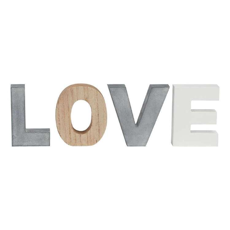 Bouclair Nomad Way Love MDF Sign