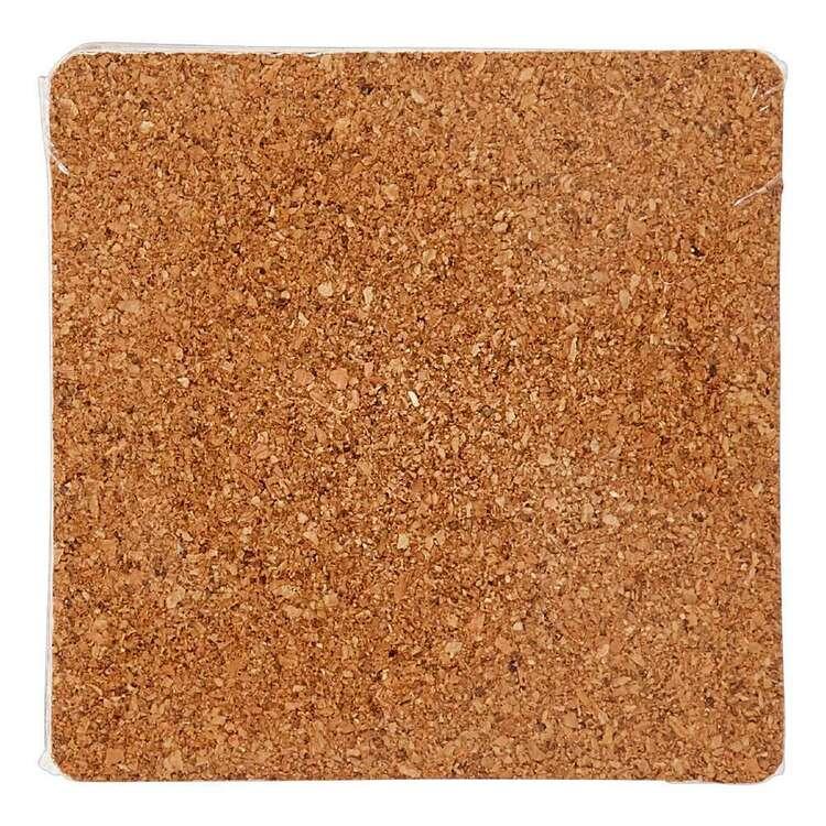 Darice 4 Pack Square Cork Coasters