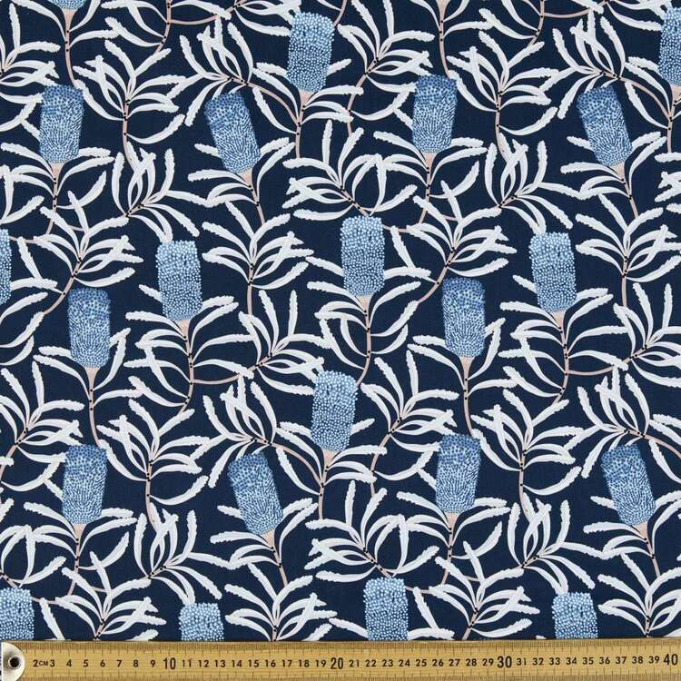 Jocelyn Proust Hunchback Banksia Digital Printed Montreaux Drill Fabric