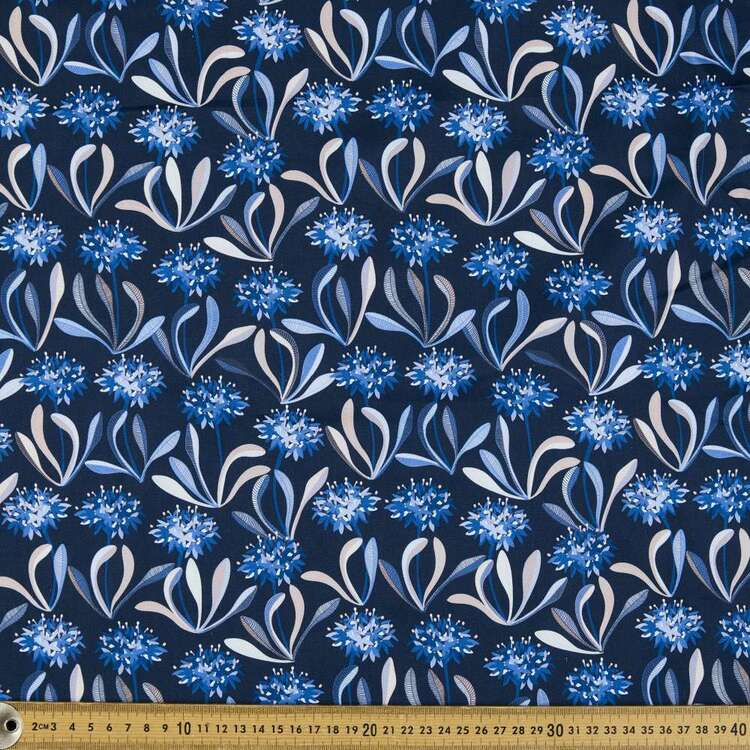 Jocelyn Proust Blue Pincushion Digital Printed Montreaux Drill Fabric