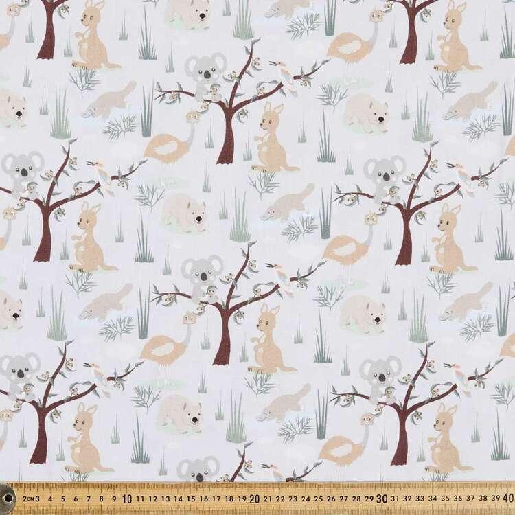 Aussie Nursery All Animals Cotton Fabric
