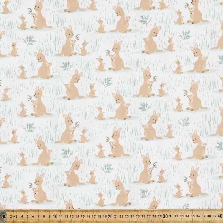 Aussie Nursery Kangaroos Cotton Fabric