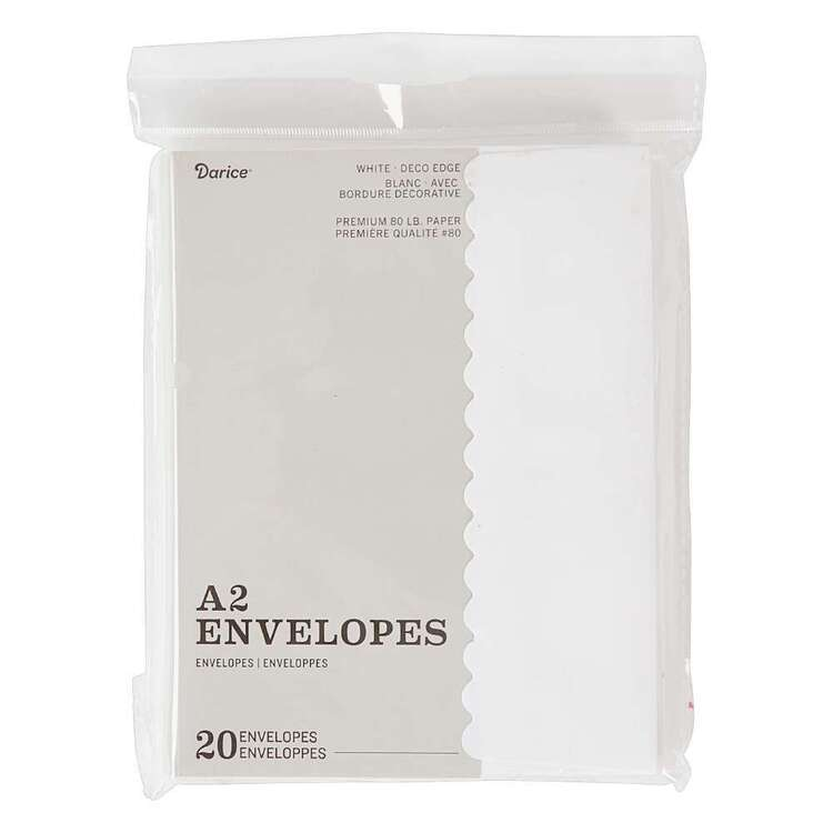 Darice A2 20 Pack Premium Paper Envelopes