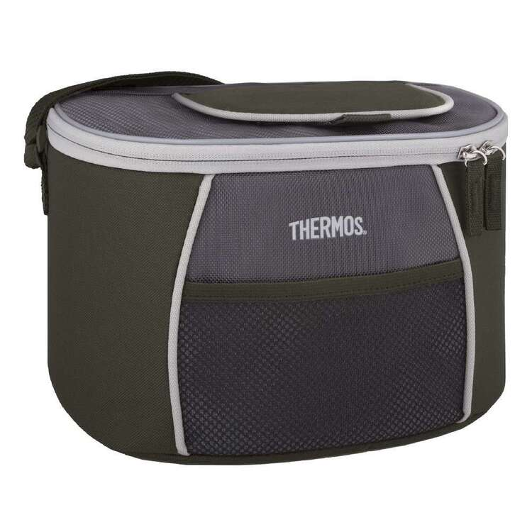 Thermos 6 Can E5 Cooler Bag Grey & Green