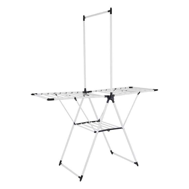 Living Space Foldable Airer With Hanging Rack