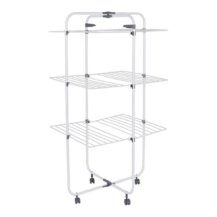 Living Space 3 Tier Foldable Airer On Wheels