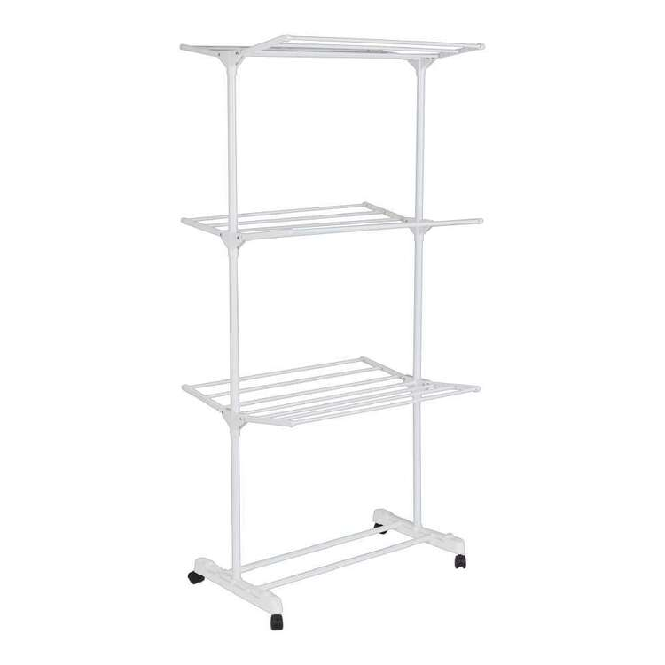 Living Space Foldable 3 Tier Airer With Wheels