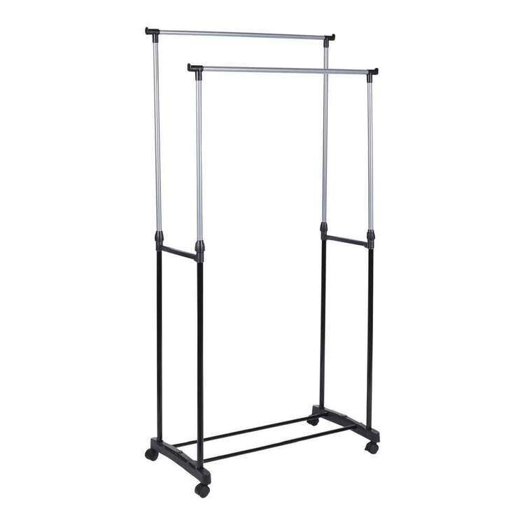 Living Space Double Garment Rack With Wheels