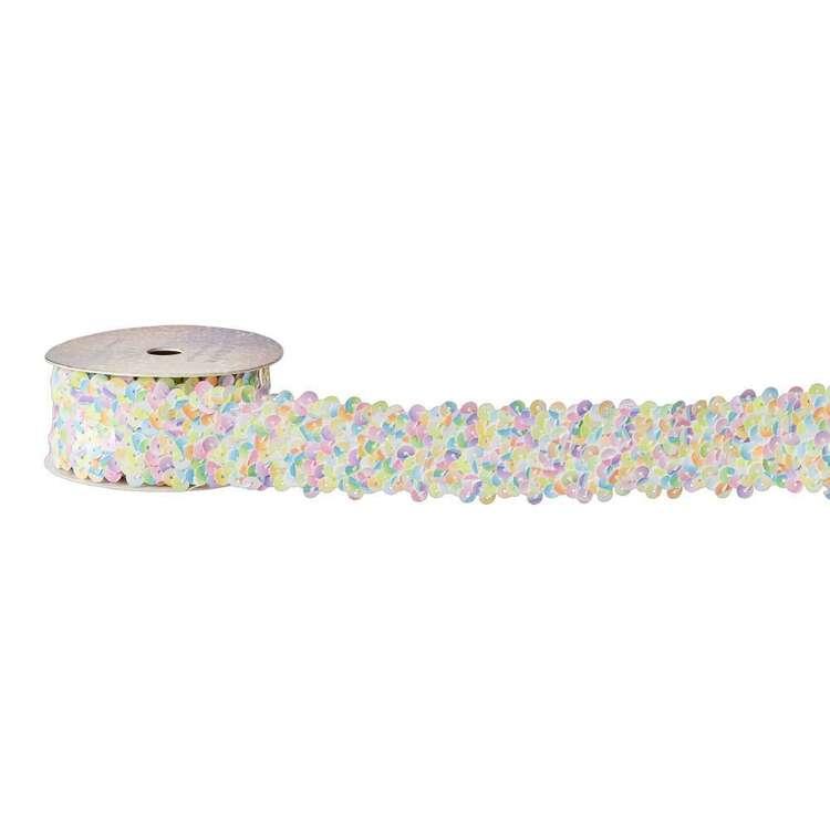 Pastel Sequin Elastic