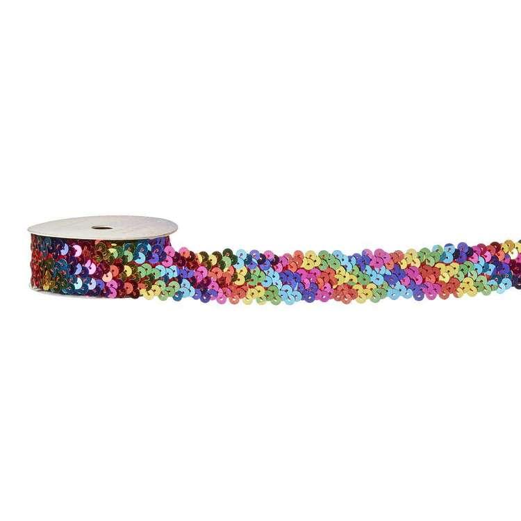 Rainbow Sequin Elastic # 3