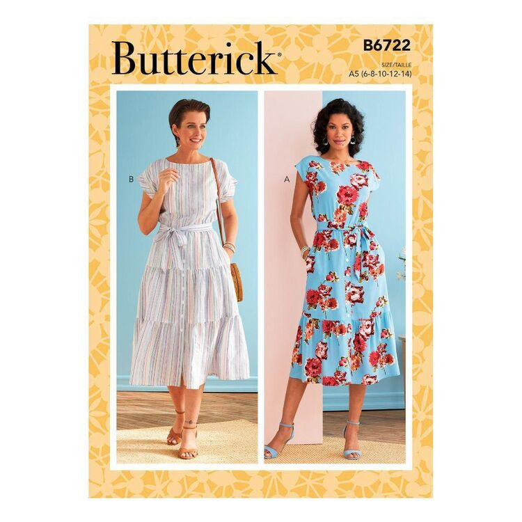 Butterick Sewing Pattern B6722 Misses' Dresses
