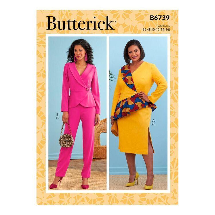 Butterick Sewing Pattern B6739 Misses' Jacket, Dress, Top, Skirt & Pants