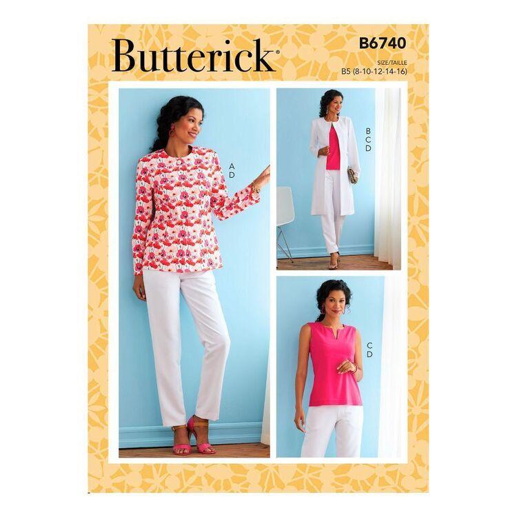 Butterick Sewing Pattern B6740 Misses' Jacket, Coat, Top & Pants