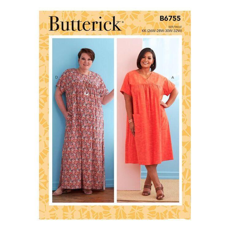 Butterick Sewing Pattern B6755 Women's/Women's Petite Yoke Dresses