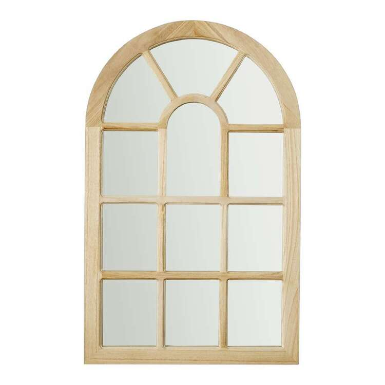Living Space Wood Arch Mirror