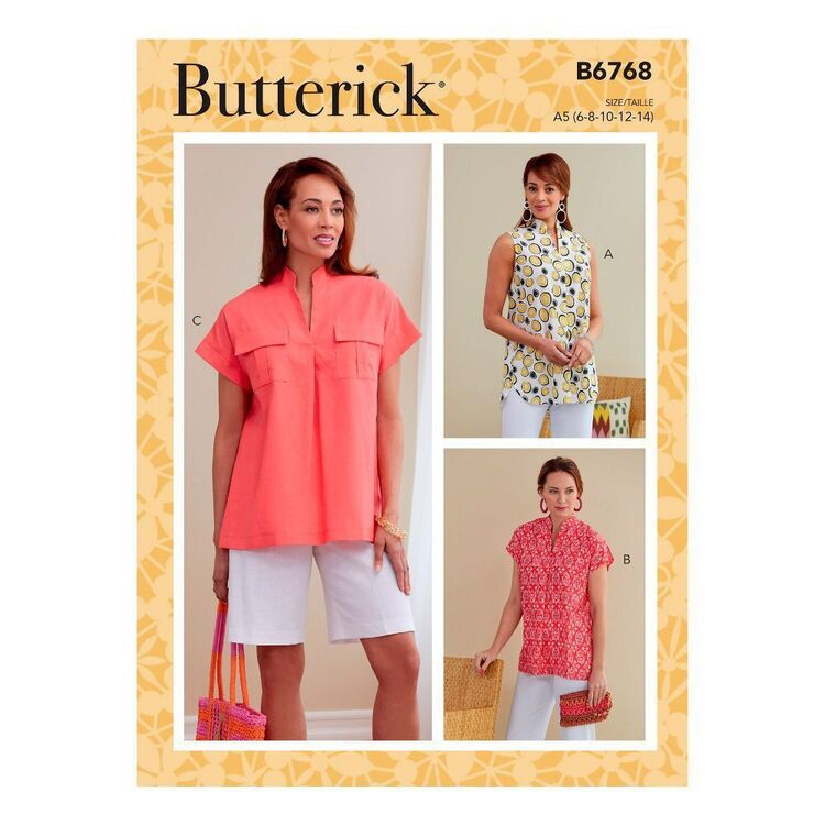 Butterick Sewing Pattern B6768 Misses' Tops