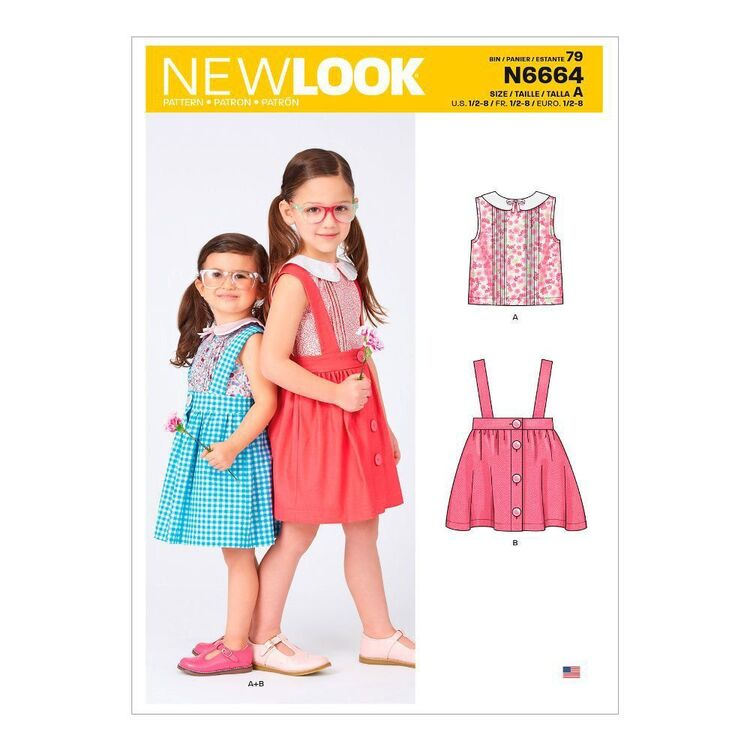 New Look Sewing Pattern N6664 Toddlers' & Children's Skirt & Top