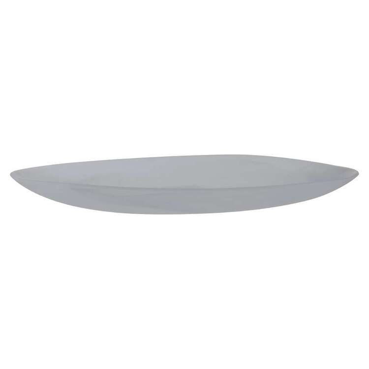 Dine By Ladelle Bodhi Large Glass Oval Plate