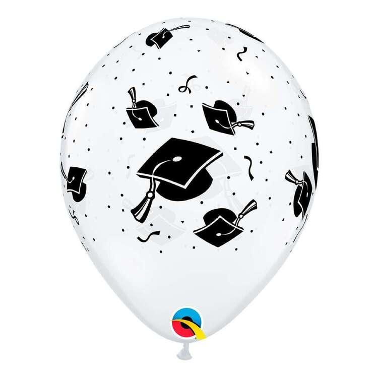 "Qualatex 11"" Graduation Hats Clear Latex Balloon"