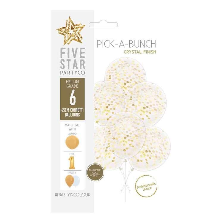 Five Star Confetti Balloon 6 Pack