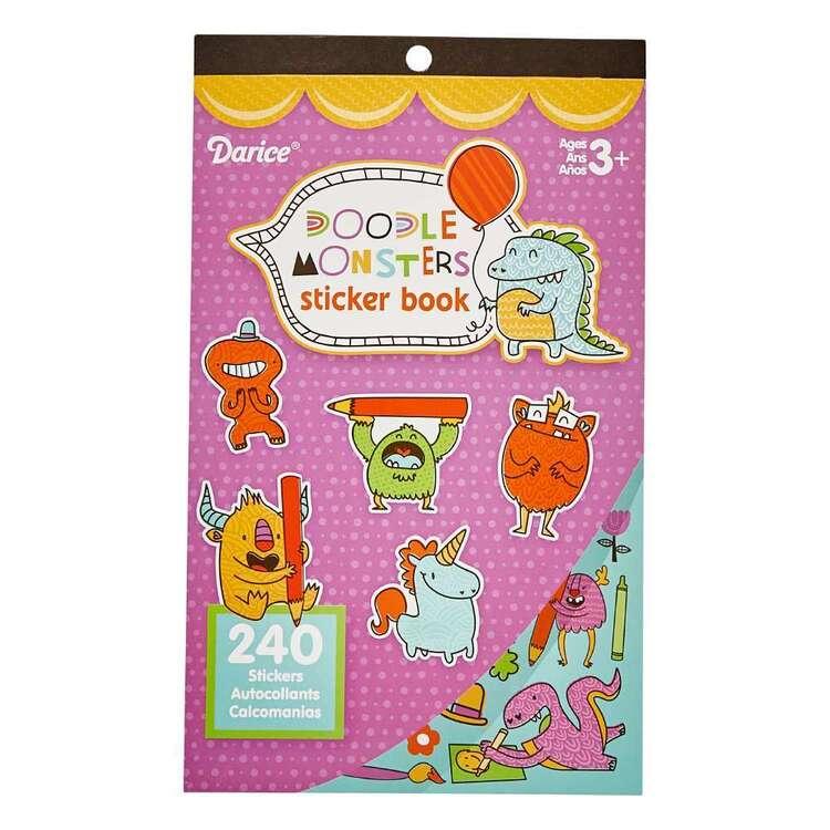 Darice Doodle Monsters Sticker Book
