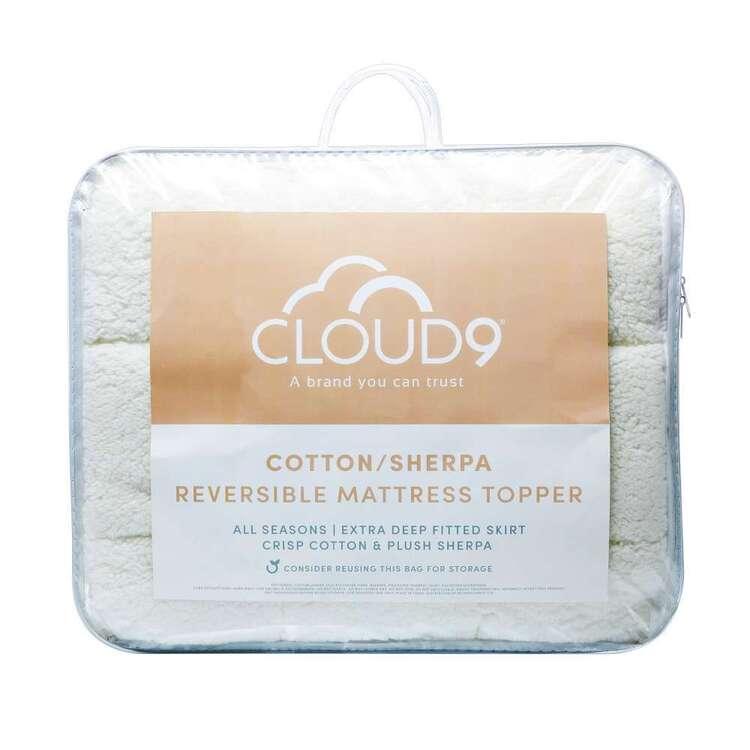 Cloud 9 Reversible Cotton Sherpa Mattress Topper