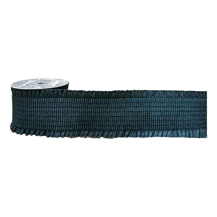 Black Double Ruffle Edge Metallic Elastic
