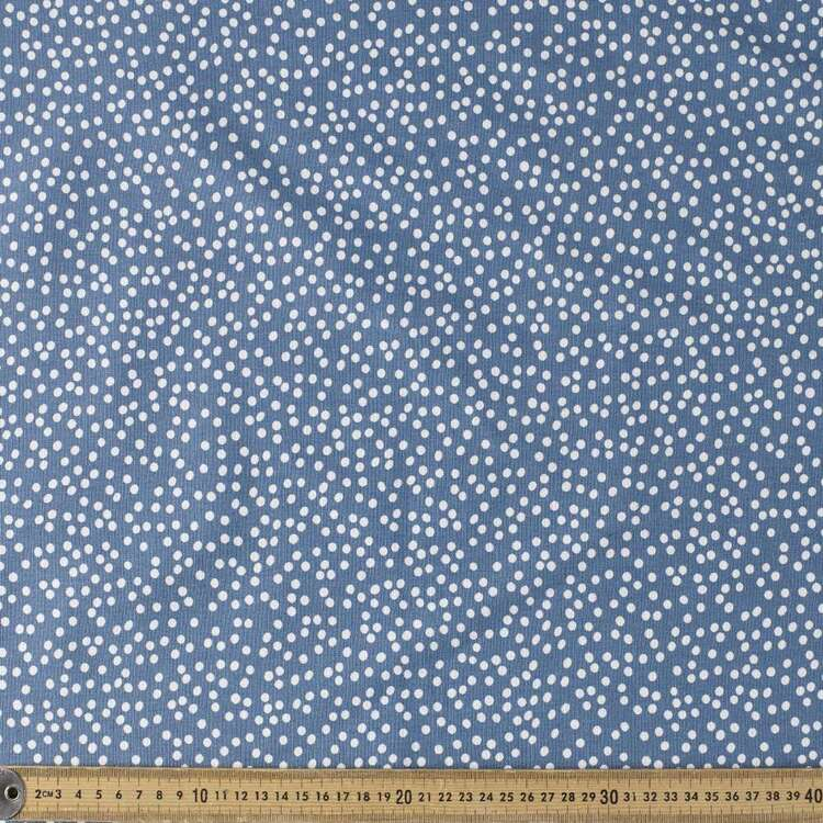 Busy Spot Printed 132 cm Cotton Linen Fabric