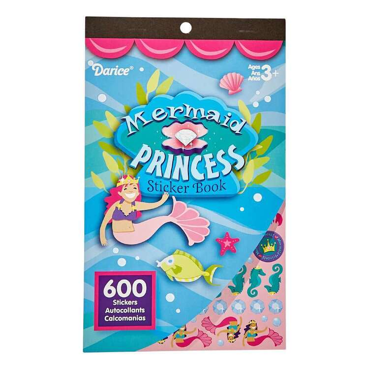 Darice Mermaid Princess Sticker Book